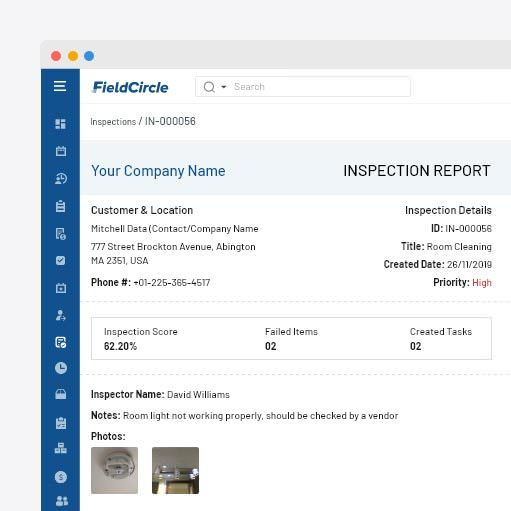 Pre/Post inspection reports